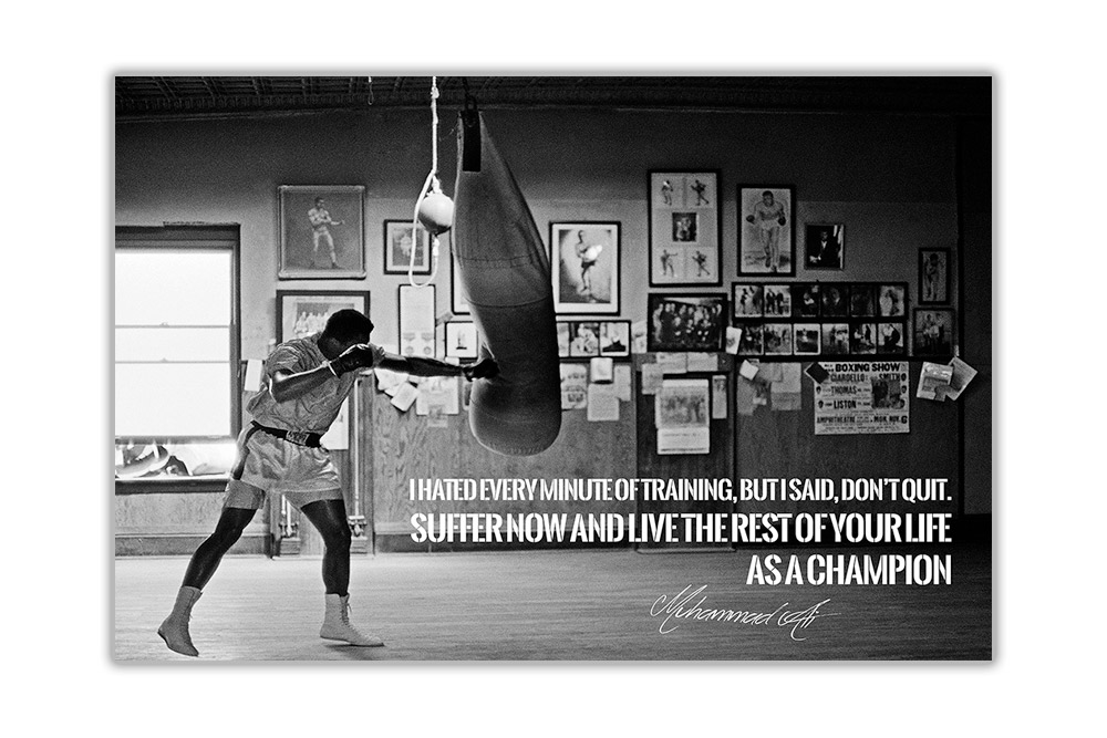 Famous Muhammad Ali Champion Quote Poster Art Pictures Wall Prints Pinup