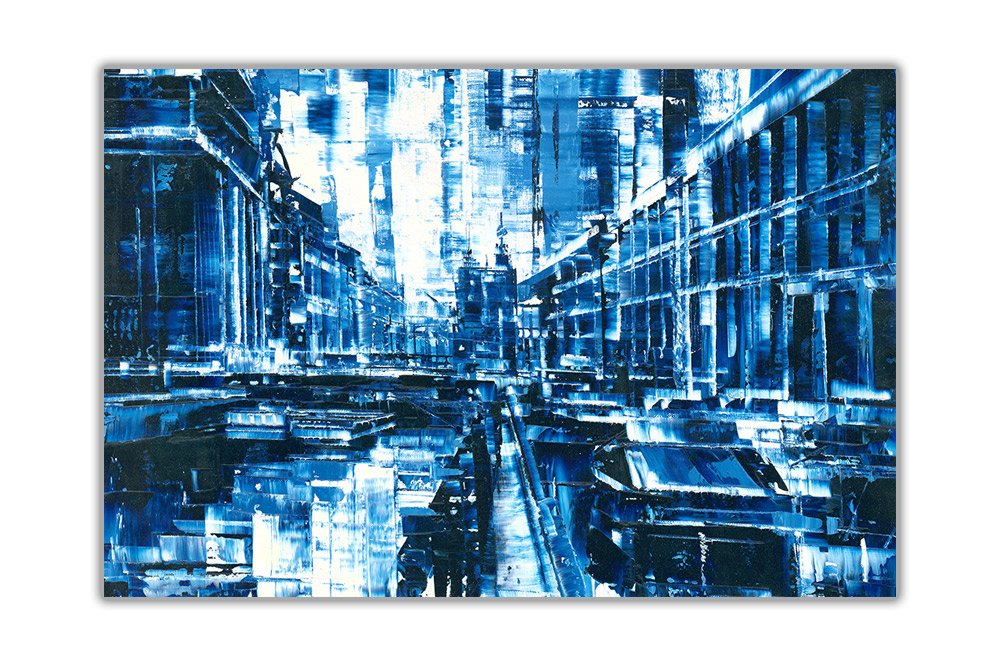 thumbnail 4 - Beautiful-Abstract-City-on-Framed-Canvas-Wall-Art-Prints-Home-Decor-Pictures