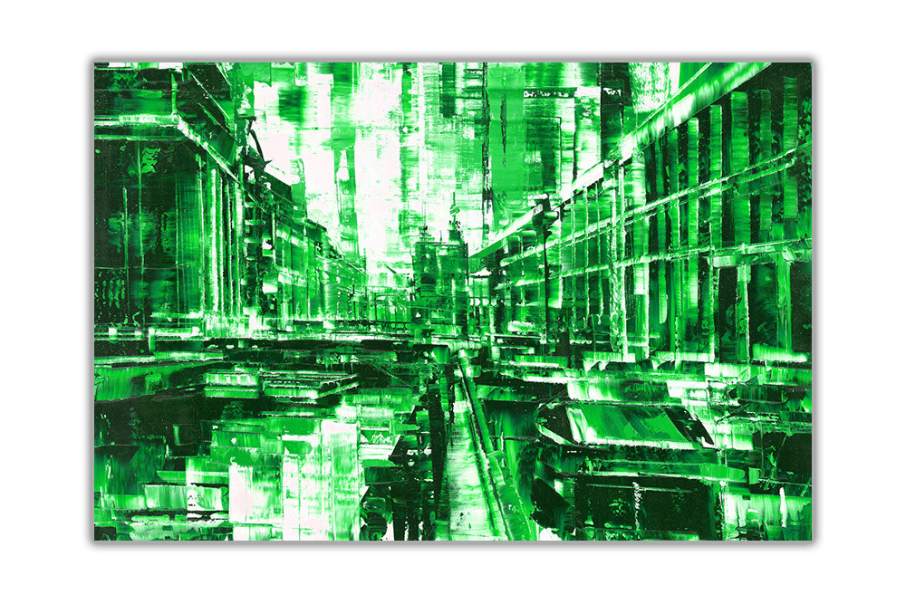thumbnail 6 - Beautiful-Abstract-City-on-Framed-Canvas-Wall-Art-Prints-Home-Decor-Pictures