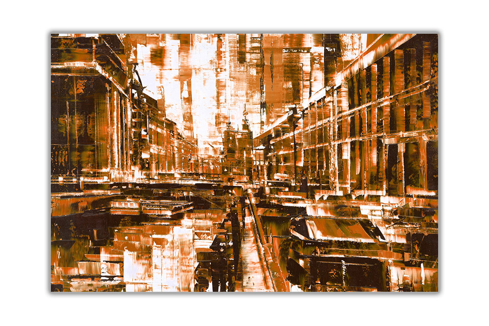 thumbnail 8 - Beautiful-Abstract-City-on-Framed-Canvas-Wall-Art-Prints-Home-Decor-Pictures