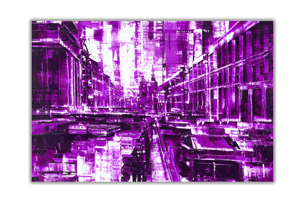 thumbnail 10 - Beautiful-Abstract-City-on-Framed-Canvas-Wall-Art-Prints-Home-Decor-Pictures