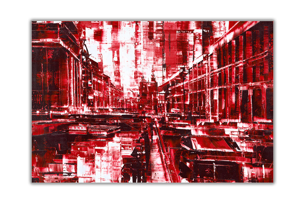 thumbnail 12 - Beautiful-Abstract-City-on-Framed-Canvas-Wall-Art-Prints-Home-Decor-Pictures