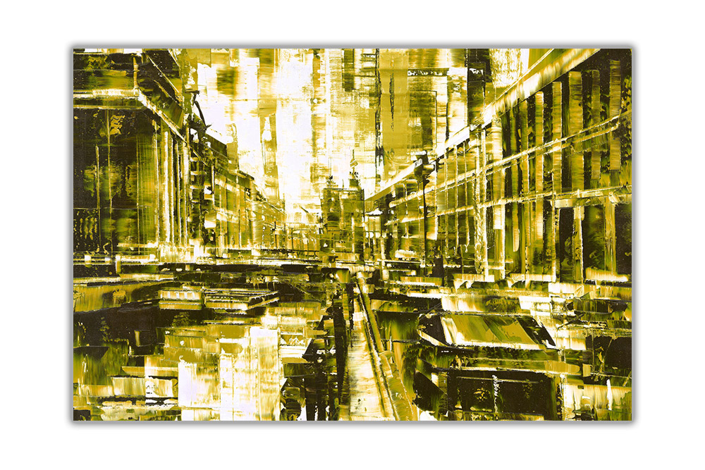thumbnail 14 - Beautiful-Abstract-City-on-Framed-Canvas-Wall-Art-Prints-Home-Decor-Pictures
