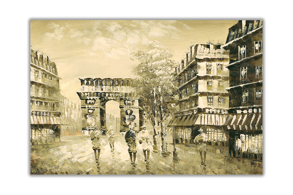 Arc de Triomphe in Paris on Framed Canvas Prints Wall Art Pictures ...