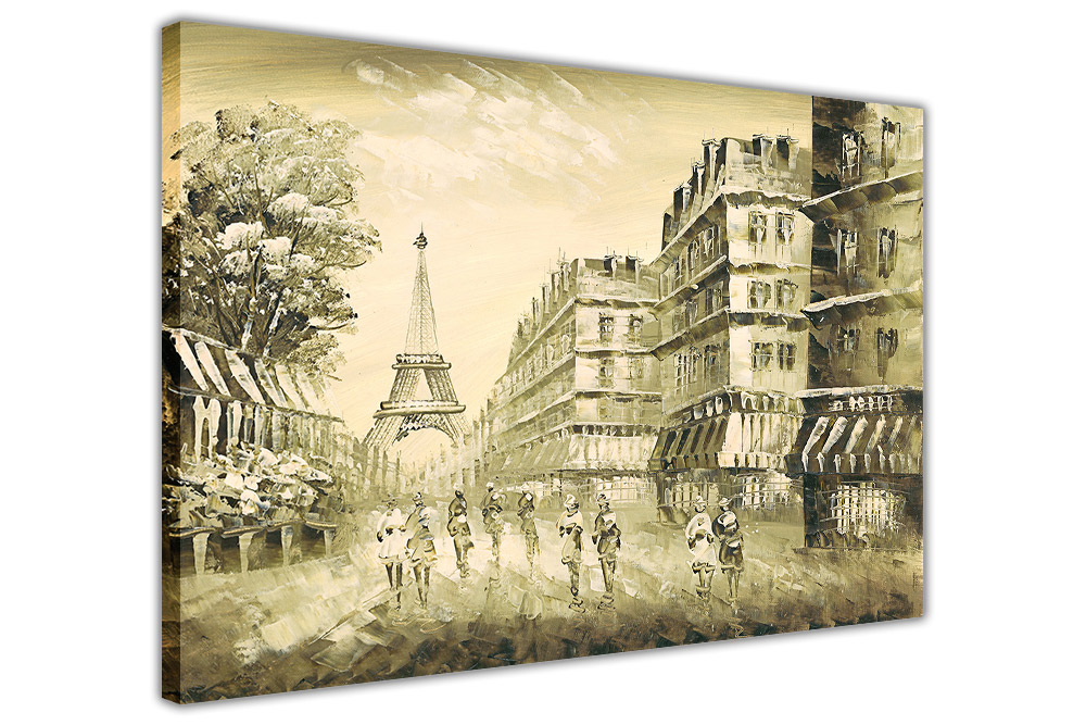 Paris 1950 on Framed Canvas Wall Art Prints Home Decoration Pictures ...